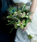 Peacock and Orchids Bouquet