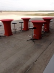 Cocktail Tables outside Hangar