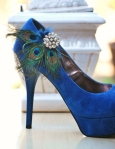Peacock Wedding Shoe