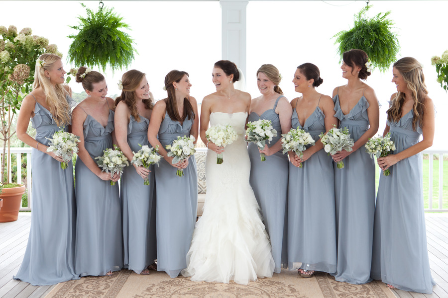 Wedding dress with blue bridesmaids platinum weddings for Wedding dresses for bridesmaid