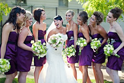 220fd84b75c Lime Green Bouquet with Purple Bridesmaids dresses – Platinum ...