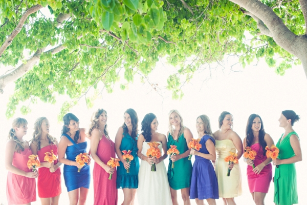 Bright Coloured Bridesmaid Dresses: Multi-Color Bridesmaid Dresses