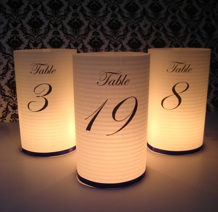 Table numbers cylinders platinum weddings and events for Table numbers