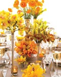 Variety of Orange flowers for Centerpiece