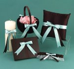 Baby Blue and Brown Wedding Accessories