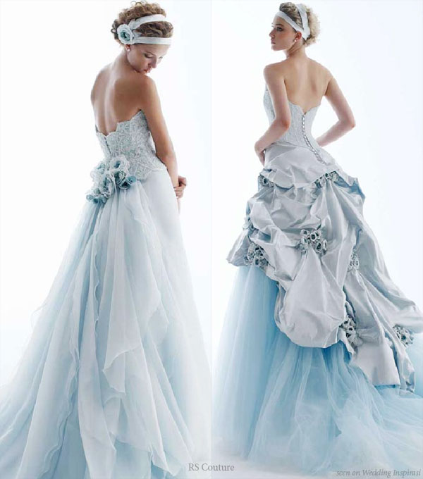 Light blue wedding dress platinum weddings and events for Light blue dress for wedding