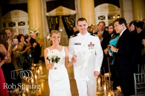 wedding recessional bride and groom