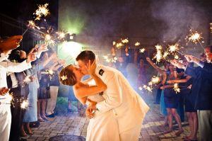 military wedding send off